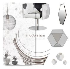 """""""In M o d e r n Detail"""" by nonniekiss ❤ liked on Polyvore featuring interior, interiors, interior design, home, home decor, interior decorating, Dot & Bo, DwellStudio and Besa Lighting"""