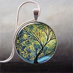 Summer Day abstract art pendant $8.95