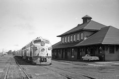 Copper Country Limited at the Calumet Depot in the 1960s (Courtesy Paul Meier)