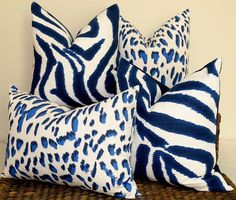 Eclectic Decor, Coastal Decor, Blue And White Pillows, Navy And White Living Room, Navy Blue Cushions, Navy Pillows, Colourful Cushions, Velvet Cushions, Throw Pillows