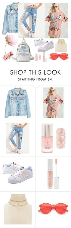 """casual outfit"" by aletraghetti on Polyvore featuring moda, Forever 21, adidas Originals y Charlotte Russe"