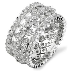14k White Gold Antique Fashion Diamond Band NK15064-W  bovadiamonds.com  214.744.7668  contact: Erica