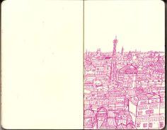 Cambodia travel sketch by Chetan Kumar