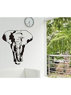 Createforlife Home Decoration Vinyl Wall Sticker Decals Mural Art Big Black Elephant ❤ Createforlife