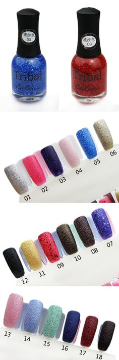 $1.59 Special Texture Liquid Sand Suede Glitter Nail Polishes 15ml 12 Colors - BornPrettyStore.com