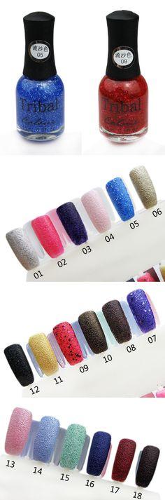 $4.47 Special Texture Liquid Sand Suede Glitter Nail Polishes 15ml 12 Colors - BornPrettyStore.com #3,8, 13
