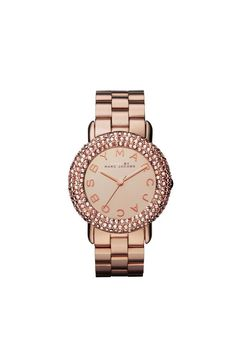 Marc Jacobs Marci Pave 36MM Encrusted with 259 Swarovski Crystals - Rose Gold Multi. ❤️