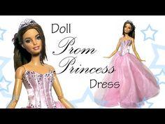 How to Make; Doll Prom Princess Dress & Tiara Tutorial https://www.youtube.com/watch?v=yKW6yHlxDhg