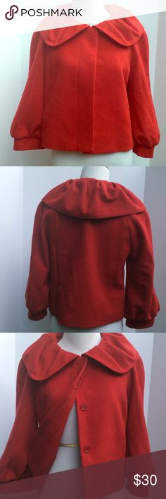 🎉🎉🎉Host Pick🎉🎉🎉 Ann Taylor Jacket Beautiful red that will bring out any out fit. 70 % wool and 30% rabbit hair. This jacket is so soft to the touch. Ann Taylor Jackets & Coats Pea Coats