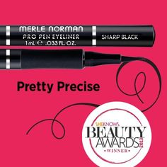 Our Pro Pen Eyeliner won the Reader's Choice and Editor's Choice in the SheKnows Beauty Awards for Best Liquid Eyeliner! Makeup Needs, Makeup Looks, Merle Norman Makeup, Eye Makeup, Hair Makeup, Perfect Cat Eye, Beauty Awards, Liquid Liner, Make Up Looks