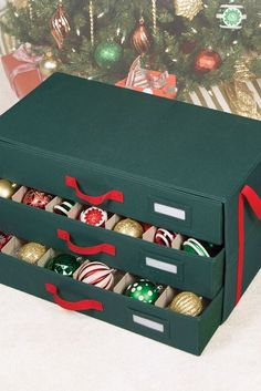 15 Best Christmas Ornament Storage Hacks That'll Make Decorating Your Tree a Total Breeze - 15 Best Christmas Ornament Storage Ideas – Easy Holiday Ornament Storage Hacks - Craft Storage Containers, Craft Storage Solutions, Storage Hacks, Storage Ideas, Christmas Ornament Storage, Christmas Ornaments To Make, Ornament Crafts, Christmas Decorations, Ornament Wreath