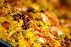 Spanish food. Paella