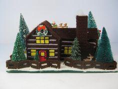 Plastic Canvas For Sale | SALE Christmas Cabin Plastic Canvas - Plastic Canvas Needlework ...