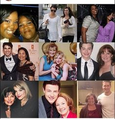 glee cast with their mums