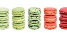 green and pink bliss. french macarons ~ dessert ~ nibbles.