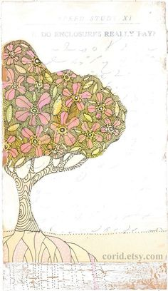 tree of life a 4 x 7 inch archival small print by corid on Etsy, $15.00