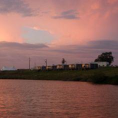 Sunset at Zmar camping resort