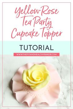 Looking for Tea Party cupcake topper ideas? You can't have a tea party without flowers! Learn how to make this Yellow Rose Tea Party Cupcake Topper. Fondant Cupcakes, Tea Party Cupcakes, Pink Cupcakes, Decorate Cupcakes, Valentine Cupcakes, Cupcake Cakes, Cake Decorating For Beginners, Cake Decorating Tutorials, Decorating Ideas
