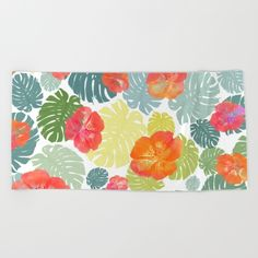Tropical abstract(8) Beach Towel