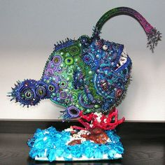 New Dimensions in Beadwork - An Overview of Bead Sculpture.  Andrea Landau - Nemo's Nightmare