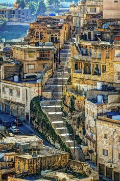 Downtown amman, jordan. Where you will find a lot of stairs like these.