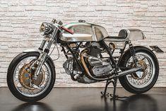 """Ducati 900 Darmah """"Crono"""" - costum built by Rome's Emporio Elaborazioni Ducati Motorcycles, Custom Motorcycles, Custom Bikes, Ducati Cafe Racer, Cafe Racer Motorcycle, Cafe Racers, Moto Ducati, Ducati Sport Classic, Classic Bikes"""