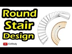 Hello Everyone In This Video I Am Going To Show You How To Design & Calculate Quantity Of Round Staircase in Urdu/Hindi. So Keep Watching The Video:::: Thank. U Shaped Staircase, Staircase Design, Stair Layout, Round Stairs, Concrete Stairs, Egg, Engineering, Technology, Math