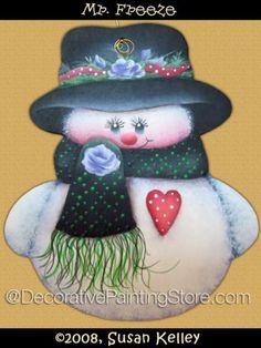 Mr. Freeze ePacket - Susan Kelley - PDF DOWNLOAD #PaintingEPattern #paintingpattern #snowman