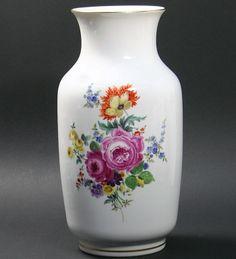 Kristall & Dahlia online shop   antique porcelain & crockery   antiques & art   Meissen/ Vase with flowers/30 cm**   antiques & porcelain & crockery