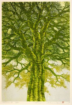 Hajime Namiki Japanese Woodblock Print Prints Tree scene 88
