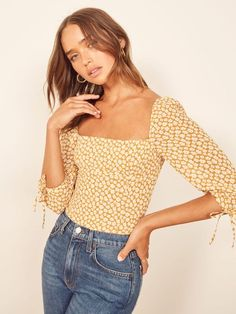 The Grove Top - The Grove Top Source by reformation - Date Outfit Herbst, Date Outfit Fall, Date Outfits, Fashion Outfits, Womens Fashion, Fashion Tips, Trendy Outfits, Trendy Fashion, Street Style Summer
