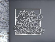 Corte laser Metal decorativo pared Panel de arte escultura