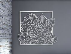 Floral  This is a limited edition custom laser cut aluminum decorative panel in a contemporary design.  Inspired by a tattoo viewed on the beach this