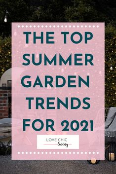2021 is the year for gardening! Create a stylish garden with these hot summer garden trends #lovechicliving Contemporary Garden Rooms, Uk Homes, Summer Garden, Gardening, Trends, Chic, Create, Stylish, Shabby Chic