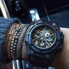 pulseras oro 24k moda joyeria trendy hombre mujer esclavas