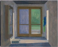 Eleanor Ray, Barn Hallway at Dusk, oil on masonite 7 x 9 in Landscape Drawings, Landscape Paintings, Urban Landscape, Contemporary Paintings, Architecture Art, Interior And Exterior, Art Projects, Art Gallery, Fine Art
