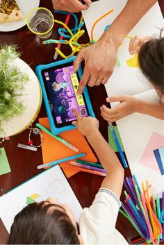 If you're buying a tablet for a child, you're probably looking for different things than with a grownup slate. Let us guide you to the best ones. Best Tablet For Kids, Better One, Slate, Cool Kids, Growing Up, Homeschool, Good Things, Entertaining, Children