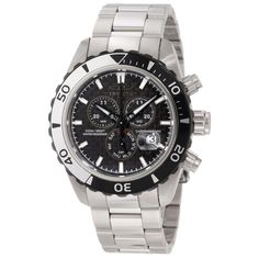 Invicta 12860 Mens Black Carbon Fiber Dial Steel Bracelet Watch,    #Invicta,    #Invicta12860
