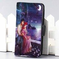 romantic ariel and eric galaxy wallet case for iphone 4,4s,5,5s,5c,6 and samsung galaxy s3,s4,s5
