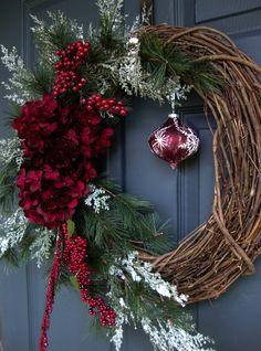 Christmas Wreaths - Holiday Wreath - Winter Wreath - Holiday Decorations - Wreaths for Door - Etsy Wreaths - Wreath - Wreaths by HomeHearthGarden on Etsy