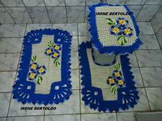 Hoje tem Flor !!!: Jogo de banheiro em crochê com receita. gráficos e...