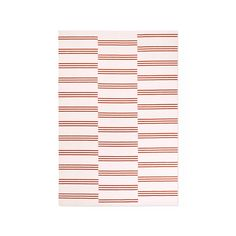 Stripes in Pink Red Rug by Nordic Knots #RedRugs