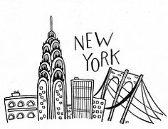 New York City famous buildings and monuments royalty-free