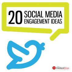 zhannadesign: 20 Social Media Engagement Ideas