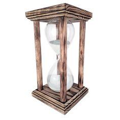 River City Clocks 60 Minute Hourglass, Brown