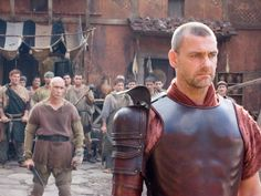 """Ray Stevenson as """"Titus Pullo"""" in HBO's """"Rome"""" My favorite character of his series. Rome Tv Series, Hbo Series, Gladiator Cast, Rome Hbo, Ray Stevenson, Spartacus Workout, Ugly Men, Tv Icon, Roman History"""