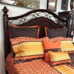 Comforter  - Orange Comforter Set w/ 6 Pillows  - $89.95