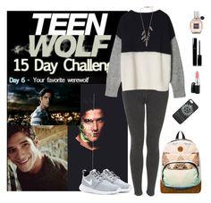 Teen Wolf Challenge: (6) Favorite werewolf by vampirliebling on Polyvore featuring Topshop, NIKE, Roxy, J.Crew, Chanel, Viktor & Rolf, MAC Cosmetics, fandom, TeenWolf and ScottMcCall