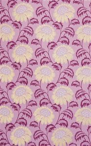 Sun Flower Design Multi Colour Print On L. Purple Matt Printed Handmade Paper
