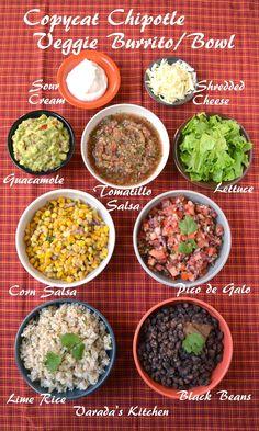 Varada's Kitchen: Copycat Chipotle Veggie Burrito/Bowl